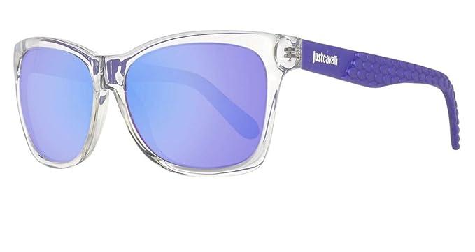 Amazon.com: Just Cavalli anteojos de sol jc649s 26Z Crystal ...