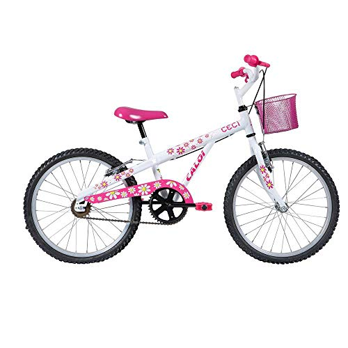 Bicicleta Infantil Caloi Barbie Aro 20 - Branco