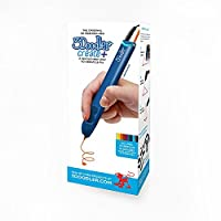 3D Pen with Free Filament Refills - 3Doodler Create+(2018 Version) 3D Doodler Art Drawing Printing Pen Kit with 15 Colors Plastic Free Stencil Activity Book for Adults Fun Arts Craft DIY Model Repair by Non-Clogging Nozzle