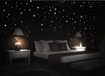 wDesigns Wandtattoo Sternenhimmel 195 leuchtend fluoreszierend ...