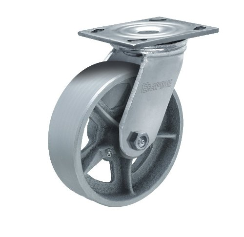 Albion-11-Series-4-Diameter-Cast-Iron-Wheel-Empire-Medium-Heavy-Duty-Swivel-Caster-Roller-Bearing-4-12-Length-X-4-Width-Plate-700lbs-Capacity-Pack-of-4