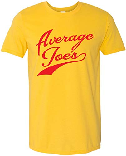 GunShowTees Men's Average Joe's Gym Dodgeball Team Jersey Shirt, X-Large, Yellow -