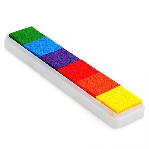 CARCHET® Stempelkissen Inkpad Stamp Pad Fingerdruck 6 Farben NICHT TOXISCH kindersicher