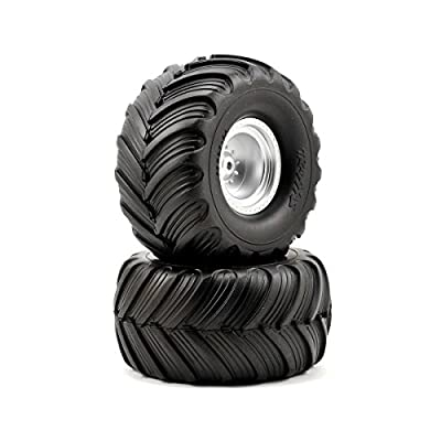 Traxxas 3663 Monster Jam Tires and Wheels, Assembled and Glued, 2-Piece: Toys & Games
