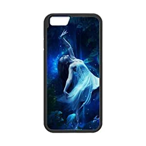 Diy Beautiful Moon Fairy Custom Cover Phone Case for iphone 6 (4.7 inch) Black Shell Phone [Pattern-3] Kimberly Kurzendoerfer