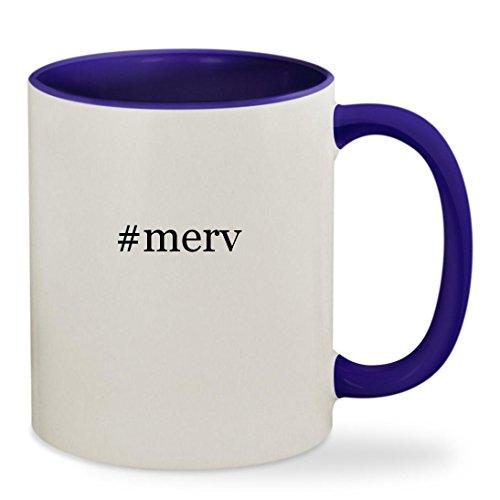 #merv - 11oz Hashtag Colored Inside & Handle Sturdy Ceramic Coffee Cup Mug, Deep Purple