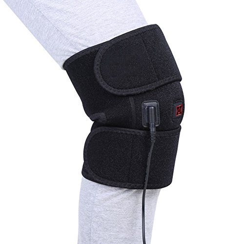Knee Heating Pad Wrap Heated Knee Brace, Hot Therapy Compress to Warm Joint Relief Pain of Knee Stiff, Arthritis, Strains, Fits Knee Calf Leg Arm