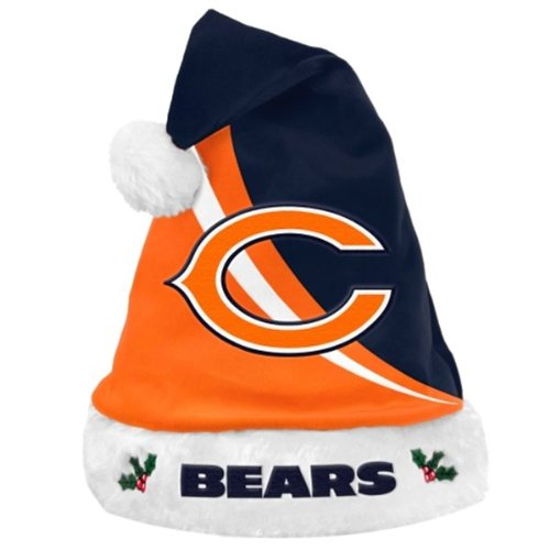 c7db1ed70885bc Amazon.com: Chicago Bears Swoop Logo Santa Hat: Clothing
