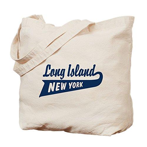 CafePress Long Island New York Natural Canvas Tote Bag, Reusable Shopping Bag (Shopping Beach Ny Long)