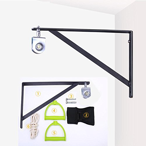 Shoulder Exercise Pulley Wall Mount Bracket Shoulder Pulley Wall Bracket Fixed Wall Support(1 Stainless Steel Pulley)
