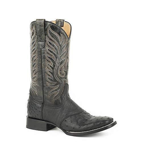 Roper Ladies Sami Saddle Vamp Sq Blk Boots 6