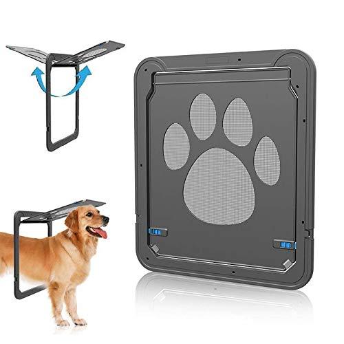 Medium Dog Screen Door,Magnetic Self-Closing Screen Door,Lockable Pet Screen Door,Sturdy Screen Door for Dog Cat