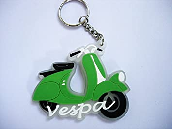 Keychains - Vespa Scooter - Green - Italy - Moto - Scooter ...