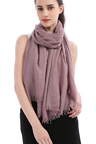 (Premium Women Extreme Soft Scarf Wrap Shawl For Any Season, Super Size, Rich Color Choice (Mauve))