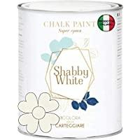 BIANCO ANTICO SHABBY WHITE CHALK PAINT Pittura Shabby Chic Vintage Mobili Pareti Altro Extra Opaca 40COLORI (1 Litro)