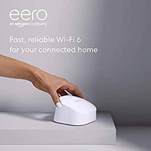 All-new Amazon eero 6 dual-band mesh Wi-Fi 6 router with built-in Zigbee smart home hub