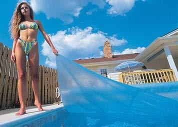 - Blue Wave NS420 12-mil Solar Blanket, 16' W x 32' L x 0.5