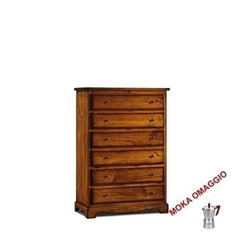 L\'Aquila Design Arredamenti CLASSICO cassettiera mobile 6 cassetti ...