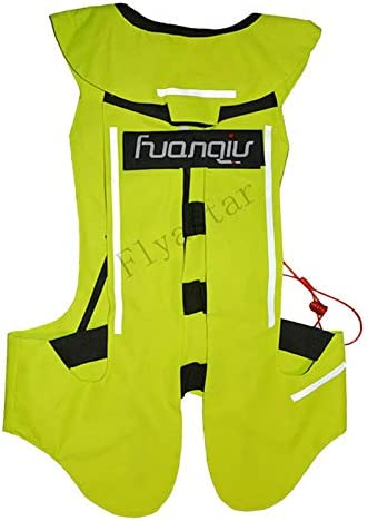 Motorcycle Air-bag Vest Moto Racing Professional Advanced Air Bag system motocross protective airbag YELLOW, L