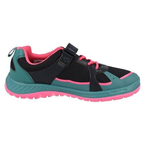 Clarks Bolzen Sie Atom Junior Girls Schuhe in Marine Navy Combi 1 F