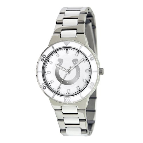 INDIANPOLIS COLTS MOTHER OF PEARL LADIES WATCH BY GAMETIME