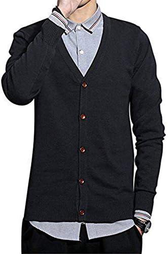カーディガン ニット メンズ Vネック 春服 セーター カーディガン 長袖 無地 ビジネス
