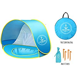 The Hamptons Baby Pop-up Beach & Outdoor Baby Tent, Protective & Portable Sun Shelter, Provides Shade & Baby Shade Pool For Your Toddler, Infant & Kid, Offers SPF, UV, 50+ UPF