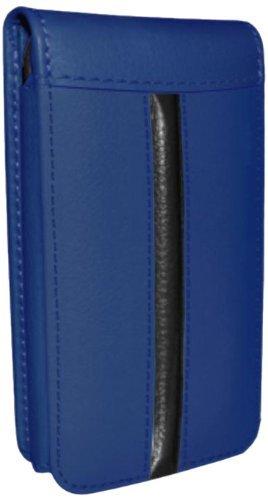 Piel Frama Ledertasche Classic Magnetic RACE Edition Blau/Schwarz für Apple iPhone 5 / 5S