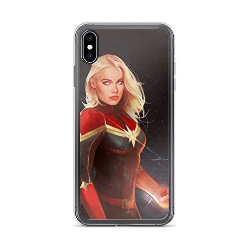 iPhone Xs Max Pure Anti-Shock Case Captain Carol Denvers Brie Larson Beautiful Stan Lee Avengerss Movie Shield Comic Superhero
