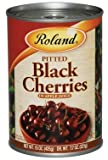 Roland: Pitted Black Cherries in Apple Juice 15 Oz (12 Pack)