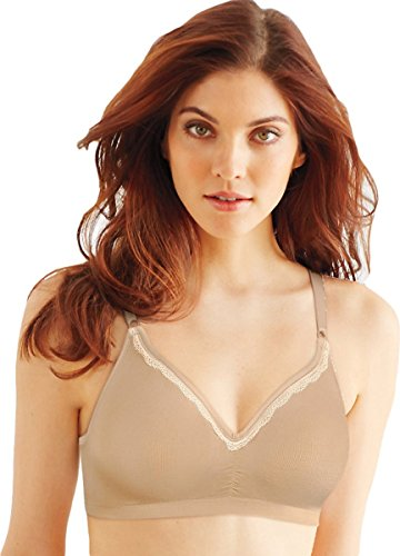 Bali Comfort Revolution Convertible Wirefree Bra_Nude Lace_42C