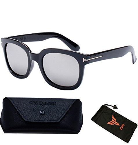 (#BJ5091 Slv) Vintage Outdoor Designer Celebrity TF 007 James Bond Sunglasses Eyewear Glasses Sunglass (Color: Silver Mirror - Sunglasses Bond James