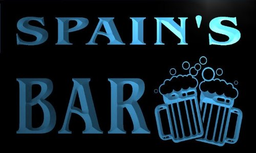 w002943-b SPAIN'S Name Home Bar Pub Beer Mugs Cheers Neon Light Sign by AdvPro Name