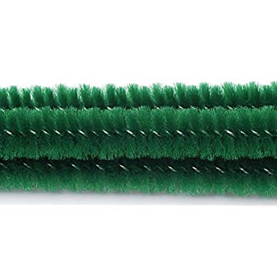 "Darice Chenille Stems 6mm 12"" 25/Pkg-Emerald Green: Arts, Crafts & Sewing"