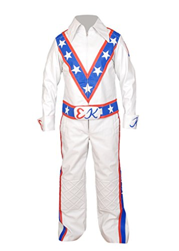 Evel Knievel Adult Costumes (F&H Men's Evel Knievel Motorcycle Suit Jacket + Pant XL Multi)