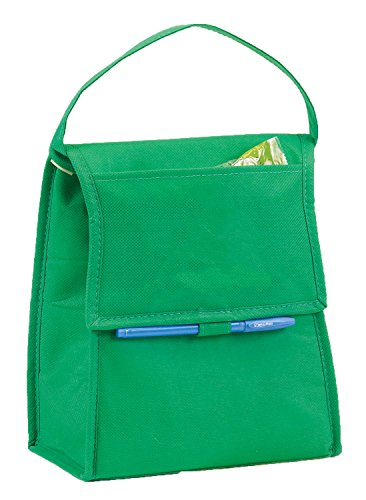 Eunichara Basic Cooler Lunch Bag Foldable with Thermal Insulated Lining Reusable (Cooler/Warmer) - Forest Green