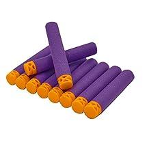 "EKIND 200 Pcs 7.2cm New Design TPR ""Waffles"" Soft Head Darts Refill Foam Bullet for Nerf N-strike Elite AccuStrike Series Blasters Toy Gun(Purple)"