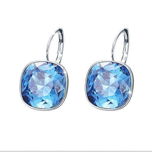 Of Pendant Mother Aqua Pearl (Xuping Valentine's Day Gorgeous Fashion Crystals from Swarovski Huggies Hoop Earrings Women Girl Party Jewelry Mom Gifts(Aquamarine))