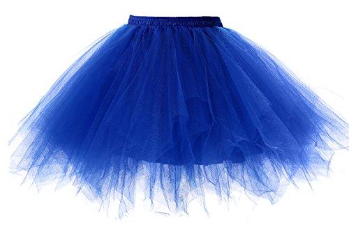 Poplarboy Damen Cocktail Kleid Königsblau