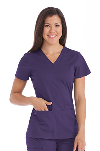 Med Couture Women's 'MC2' Everyday Scrub Top, Plum, X-Small from Med Couture