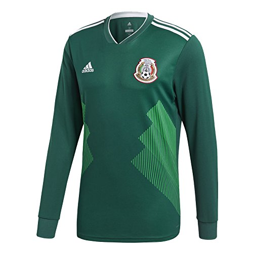 ong Sleeve Jersey [CGREEN] ( L) (Mexico Soccer Jersey)