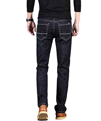 Gamba Vintage Denim Regular Jeans Stile Slim Estilo Blackblau Moda Pantaloni Basic Stretch Dritta Uomo Fit Especial qPqHOX