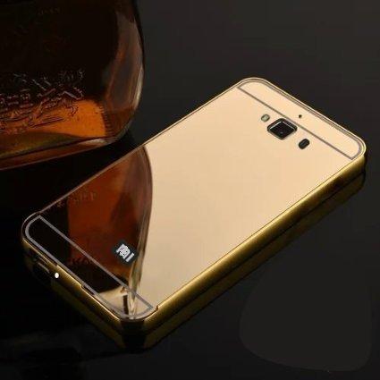 wholesale dealer fa7b8 e394b CHL Metal Bumper Acrylic Mirror Back Cover Case For: Amazon.in ...