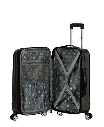 41ySv%2BDAEFL - Rockland Luggage Melbourne 20 Inch Expandable Carry On, Metallic, One Size