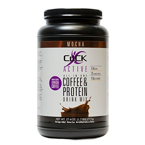 CLICK Active | High Protein Coffee | 25g Protein Powder | Premium Whey Isolate, Casein Blend | Double Shot Natural Espresso Coffee | No Added Sugar | Gluten Free Active Protein