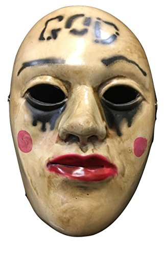 The Purge Fiberglass Deluxe 'God' Mask Universal W/ Buckle Strap by Wrestling