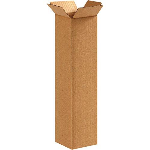 Aviditi 4416100PK Corrugated Boxes, 4'' L x 4'' W x 16'' H, Kraft (Pack of 100) by Aviditi