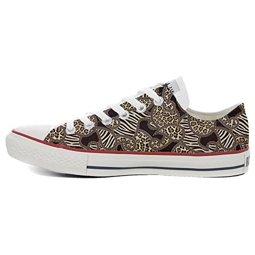 adulte mixte artisanal produit All Slim coutume Jungle Star chaussures Converse FgqOc