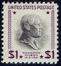 (United States Regular Issue Stamp Scott # 832 Mint Unused Very Fine Centering Never Hinged $1 Woodrow Wilson)