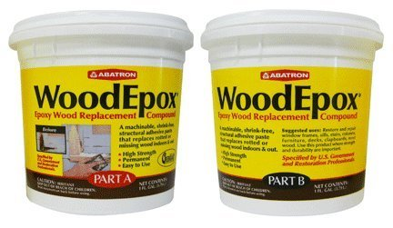 Abatron WoodEpox Epoxy Wood Replacemnt Compound, 2 Gallon Kit, Part A & - Epoxy Stain Wood